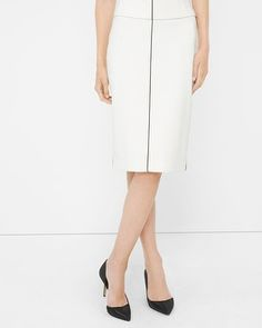 White House | Black Market Piped Pencil Skirt