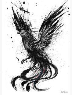 Phoenix ink drawing by Doriana Popa Phoenix ink drawing by . - Phoenix ink drawing by Doriana Popa Phoenix ink drawing by Doriana Popa - Kunst Tattoos, Bild Tattoos, Body Art Tattoos, Cool Tattoos, Ear Tattoos, Sleeve Tattoos, Tattoo Ink, Small Tattoos, Tatoos