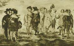 Édouard Manet (A. Strölin, Paris), Trente Eaux - fortes originales; Les petits cavaliers, d'après Velasquez, 1905 © Albertina, Wien Edouard Manet, Paris, Velasquez, Painting, Montmartre Paris, Painting Art, Paris France, Paintings, Paint