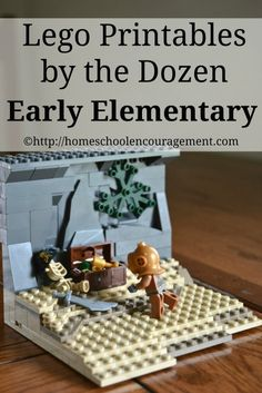 Free Lego Printables for Early Elementary --  My seven-year-old son LOVES to play with legos.  Seriously — he would never stop playing legos if it wasn't for food and MineCraft.  So if I can get him to do school with legos?  I'm rockin' school! from #HSencouragement  #Homeschool