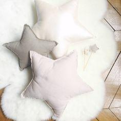 Avril et Jim bedroom Star cushions, Cloud, Girl bedroom