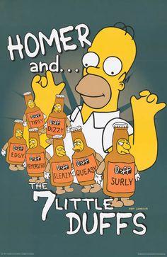 Homer Simpson Seven Little Duffs Simpsons TV Show Poster 23x35