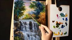 How to Paint Waterfall With Acrylics Lesson 3 ( PART 2)