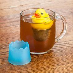 Rubber duck tea infuser