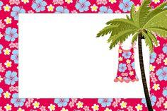 Imprimibles para pijamada hawaiana.
