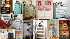 xylines-syrtarieres-idees-gia-vapsimo Dresser, Crafts, Furniture, Home Decor, Powder Room, Manualidades, Decoration Home, Room Decor, Stained Dresser