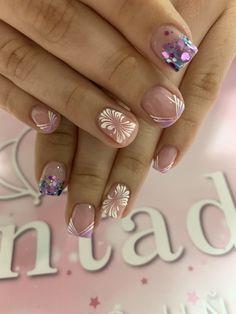 Nails Decoradas, Stylish Nails, Manicure, Nail Art, Angel, Beauty, Arabesque, Unicorn Nails, Glitter Nails