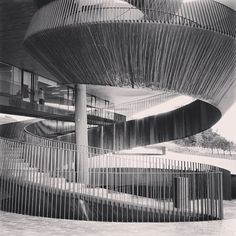 I've seen a thousand wineries around the world but nothing like this place, Cantine antinori-Bargino. Photo by Booker Liu Buhn Bakas Charles James, Building Structure, Water Tower, Spirals, Railings, Wineries, Architectural Elements, Elevator, Amazing Architecture