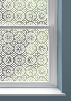 Mini Moderns | Darjeeling Window Film - net curtain alternative