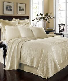 Take a look at this Ivory Matelasse Coverlet by Ellery Homestyles on #zulily today!