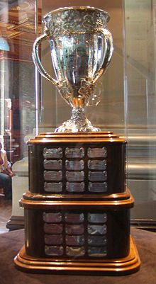 """The Calder Memorial Trophy is an award given """"to the player selected as the most proficient in his first year of competition in the National Hockey League"""". Hockey Logos, Pro Hockey, Hockey Puck, Hockey Trophies, Sports Trophies, Montreal Canadiens, Nhl Games, Nhl Players, Home"""
