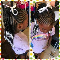 Kids Hairstyles for Black Girls - Kids Braided Hairstyles - Kids Little Girl Braid Styles, Kid Braid Styles, Little Girl Braids, Black Girl Braids, Braids For Kids, Girls Braids, Hair Styles, Cute Little Girl Hairstyles, Black Kids Hairstyles