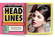 Head Lines - Matt Chase   Design, Illustration #color