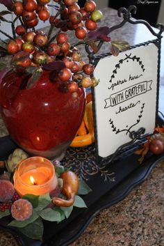 5 Easiest Give Thanks Home Decor Projects | FrugElegance | www.frugelegance.com