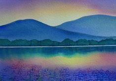 Watercolor Landscape, Abstract Watercolor, Watercolor And Ink, Abstract Landscape, Watercolour Painting, Painting & Drawing, Nature Paintings, Landscape Paintings, Landscapes