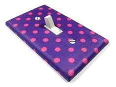 Cute for Gias bedroom Purple and Pink Polka Dots Light Switch Cover Teen Girls Bedroom Decor Wall Art Decoration Nursery 939. $8.00, via Etsy.