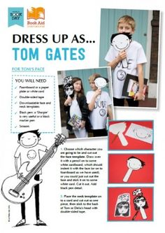 Tom Gates dress up for World Book Day Book Characters Dress Up, Character Dress Up, World Book Day Costumes, Book Week Costume, World Book Day Ideas, Day Book, Tom Gates, Storybook Character Costumes, Diy Costumes