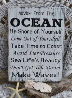 Life Advice from the Ocean
