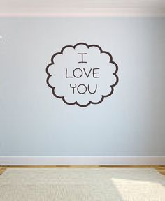 I Love You Vinyl Lettering Wall Decal