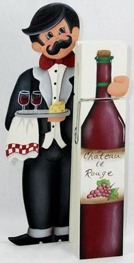 The Decorative Painting Store: Maitre'D/Waiter Clothespin Buddy ePacket, e-Patterns