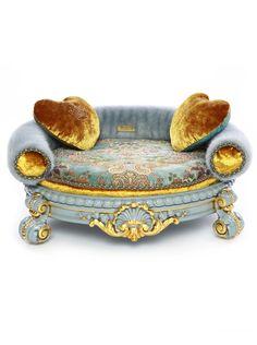 A stunning bespoke handmade luxury pet bed