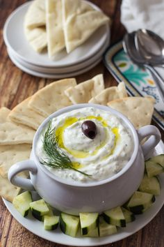 Authentic Greek Tzatziki, YUM!!!! #fresh #appetizer