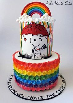 Rainbow Snoopy - Cake by Kylie Marks