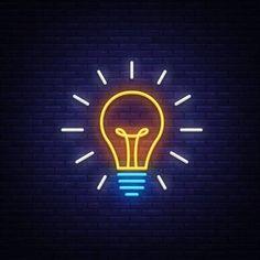 Illustration of Light Bulb neon sign vector. Wallpaper Iphone Neon, Neon Wallpaper, Aesthetic Iphone Wallpaper, Custom Neon Signs, Led Neon Signs, Hight Light, Neon Design, Design Light, Neon Logo