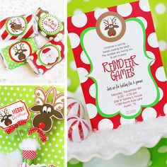 Amanda's Parties TO GO: Reindeer Games - New Printables Set for Holiday Parties!