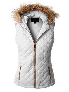Fur vests are all the rage this fall/winter season and this quilted beauty is the one you need to liven up your wardrobe! The detachable hood allows for versatility and the layering options are endles