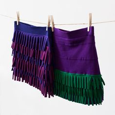 As of late, we've got it bad for fringe. From fringe statement necklaces to a fringe tote, we can't stop dreaming of new and different ways to fringe it up in the style department. Today's case in point? A trio of flirty fringe skirts!