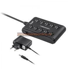 HUB USB, 10 porturi, cu intrerupator - 401120