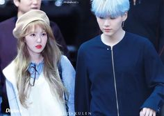 Y: let's holding hand W : No. They will know Y: Yes W: i said no Y: yes you are, because you're mine. Now is it wrong to holding your lover hand? W: *blush* w-what? This is weird hahaha. Okay, i just feel a bit dizzy today. #bts #rv #bangtanvelvet #wenga #sugawendy #wendysuga
