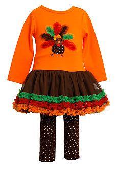 Bonnie Jean® Turkey Tulle Set Toddler Girls