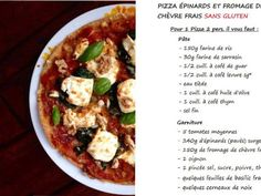 Pizza sans gluten : épinards et fromage de chèvre frais