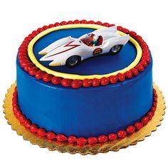 Simple Speed Racer Grooms Cake