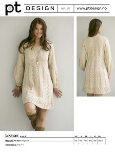 World of hobbies: champagne color (knitting) Crochet Motifs, Knit Crochet, Cozy Sweaters, Winter Dresses, Knit Patterns, Playing Dress Up, Knit Dress, Fashion Dresses, Tunic Tops