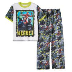 Boys 4-20 DC Comics Justice League 2-Piece Pajama Set, Boy's, Size: Medium, Grey