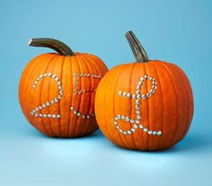 Use tacks for personalizing pumpkins with your monogram or house number. #diy #pumpkin #halloween #newuse