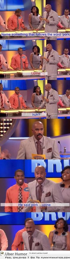 I'm not going to lie, I absolutely love watching Family Feud because Steve Harvey is hilarious. This is one of the best responses in the history of Family Feud. Can't Stop Laughing, Laughing So Hard, Dc Memes, Funny Memes, Funny Comebacks, Doug Funnie, Thats 70 Show, Memes In Real Life, Family Feud