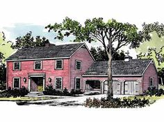Classic Farmhouse with Fireplace in Master Bedroom (HWBDO14486)   Farmhouse House Plan from BuilderHousePlans.com