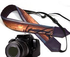Sea Camera Strap. Beach camera strap. DSLR / SLR Camera Strap. For Sony, canon, nikon, panasonic, fuji and other cameras.