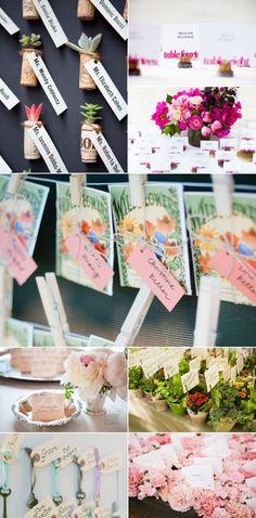 Love the flower seeds...Escort card inspiration