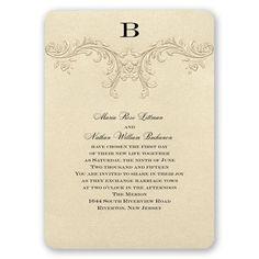 golden vintage wedding invitation | gold wedding invites | Invitations by Dawn at Invitations By Dawn