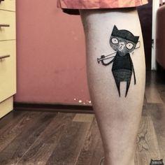 www.instagram.com... #tattoo #tatuaz #tattoowork #project #design #ink #inked #graphic #tattuaggio #btattooing #tattuaje #illustration #татуировка #тату #krakow #berlin #wroclaw #warszawa #prague #praha #tetovani #tätowierung #tatuajes #panakota #littletattoos #cat