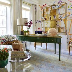 Interior design by Phillip Thomas for the 2016 Kips Bay Decorator Show House, via @sarahsarna.