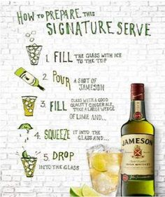 1000 images about jameson cocktails on pinterest for Jameson mixed drinks recipes