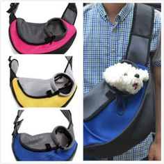 Pet Carrier Carrying Cat Dog Puppy Small Animal Sling Front Carrier Mesh Comfort #Petguider