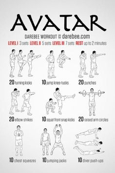 Avatar and Workout on Pinterest
