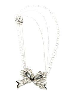Silver Triple Strand Asymmetric Necklace